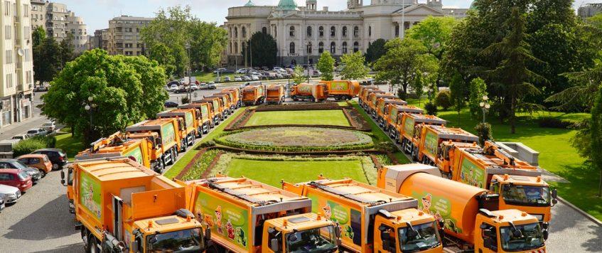DAF Trucks entrega a la ciudad de Belgrado 44 vehículos para la limpieza y el mantenimiento urbano.